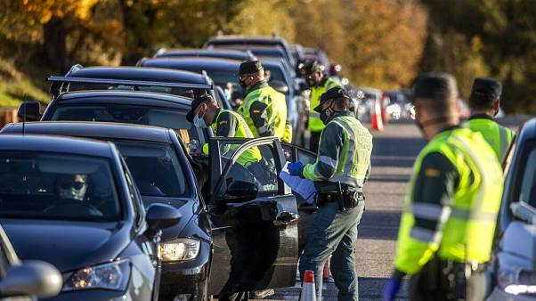 Un control policial en Madrid