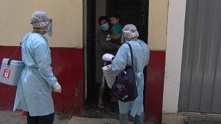 Campaña de vacunación de difteria en Lima, Perú