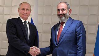 Ermenistan Başbakanı Paşinyan ile Rusya Devlet Başkanı Putin