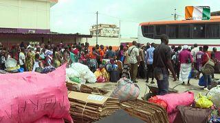 Abidjan désertée par peur de violences post-électorales
