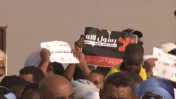 جموع من الموريتانيين يتظاهرون في نواكشوط احتجاجا على نشر الرسوم المسيئة للنبي محمد - تشرين الأول/أكتوبر 2020