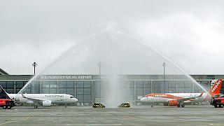 Los primeros aviones en las pistas del nuevo aeropuerto Berlín-Brandenburg 'Willy Brandt'