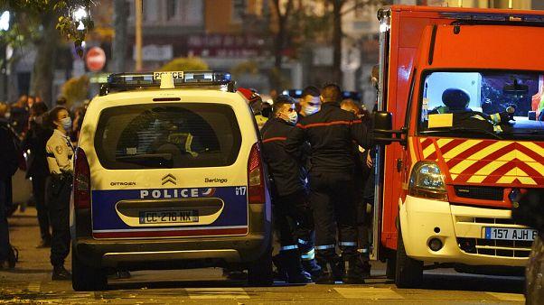 Forces de sécurité déployées à Lyon (France) suite à l'aggression d'une prêtre orthodoxe, le 31/10/2020