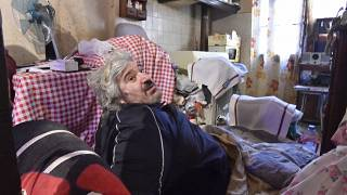 Alain Panabiere, 52, looks on as he sits inside his home in Perpignan, southern France, on October 27, 2020.