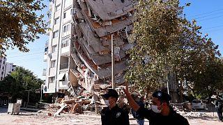 خسارت زلزله در شهر ازمیر ترکیه