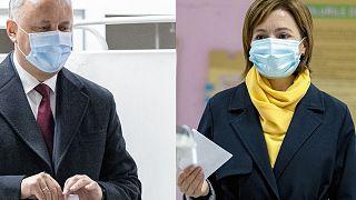 Moldova presidential election, Igor Dodon and Maia Sandu