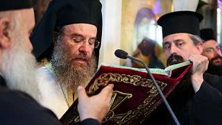 Ο μητροπολίτης Ιερισσού, Αγίου Όρους και Αρδαμερίου, Θεόκλητος