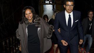 Sindilka Dokolo com a mulher, a empresária angolana Isabel dos Santos