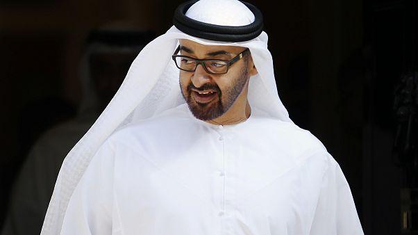 Crown Prince of Abu Dhabi, Sheik Mohamed bin Zayed Al Nahyan leaves 10 Downing Street in London, Monday, July 15, 2013