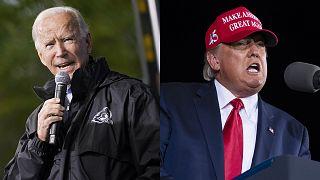 Montage : Joe Biden et Donald Trump, le 1er novembre 2020