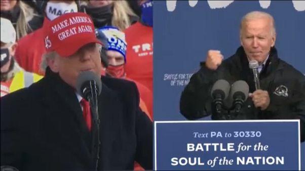 """""""Wir werden gewinnen, gewinnen, gewinnen"""": Countdown zur Wahl in den USA"""