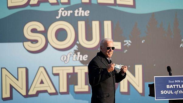 Joe Biden held a rally at the Minnesota State Fairgrounds in St. Paul, Minnesota on Friday.