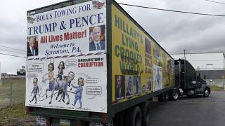 Агитационный фургон сторонников Дональда Трампа в Пенсильвании