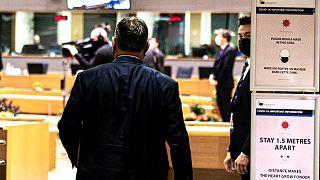 Orbán Viktor, miniszterelnök a kétnapos, brüsszeli uniós csúcson, október 15-én