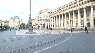 Empty streets in Bordeaux as France enters lockdown