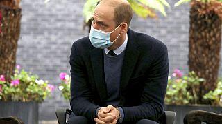 Prinz William im Gespräch mit Angestellten des The Royal Marsden Krankenhaus in London, 21.10.2020