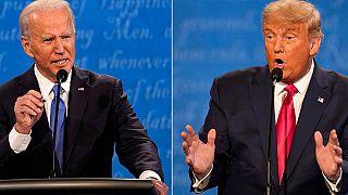 El candidato demócrata y exvicepresidente Joe Biden y el candidato republicano y presidente de EE.UU. Donald Trump.