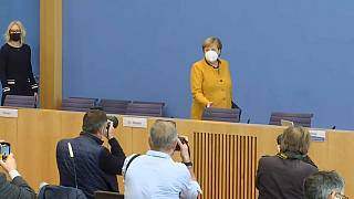 Screenshot: Angela Merkel am 2.11. in Berlin