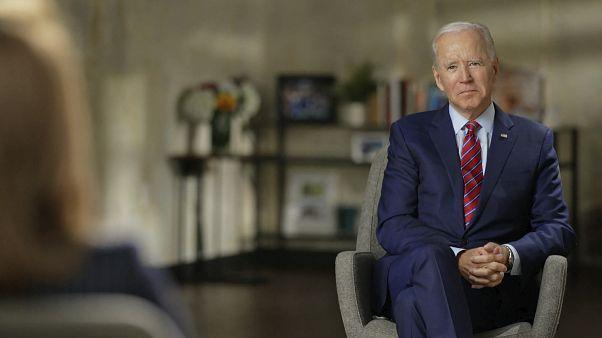 المرشح الديمقراطي جو بايدن خلال مقابلة مع برنامج 66 دقيقة