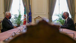 António Costa e Marcelo Rebelo de Sousa debatem estado de emergência em Portugal