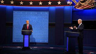 El candidato republicano presidente Donald Trump y el candidato demócrata exvicepresidente Joe Biden participan en el segundo y último debate.