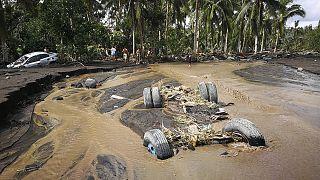 الأضرار التي سببها إعصار غوني الذي ضرب وسط الفلبين.