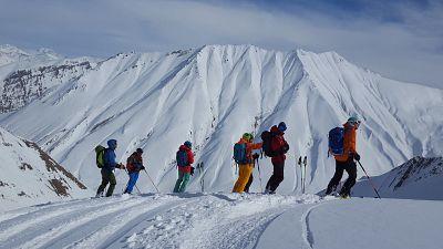 Katy Dartford skiing in Georgia