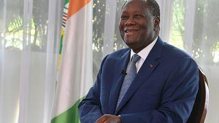 Alassane Ouattara lors d'une interview par l'Agence France Presse le 28/10/20