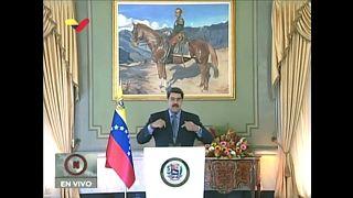 El presidente de Venezuela, Nicolás Maduro, durante su intervención televisada