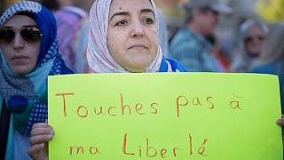 Quebec'te bir protesto