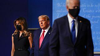 Donald Trump y Joe Biden en el último debate electoral