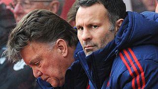 Ryan Giggs im November 2015 als Assistenztrainer von Manchester United neben Chefcoach Louis van Gaal