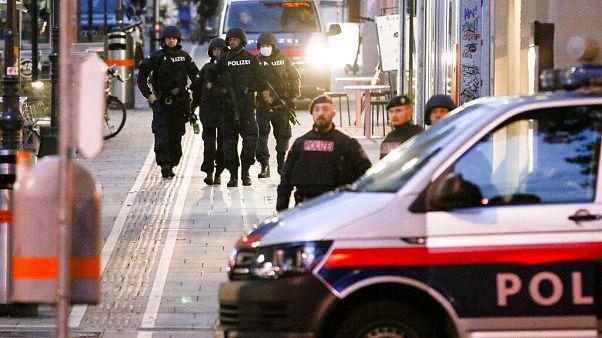Patrouilles de police à Vienne, Autriche, tôt mardi matin, le 3 novembre 2020, Autriche
