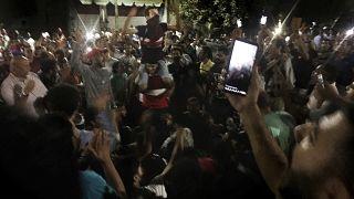 صورة أرشيفية لمظاهرة ضد الحكومة المصرية