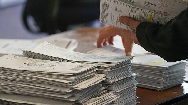 Des bulletins de vote dans le Wisconsin