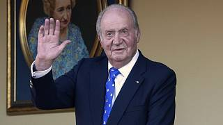 Spain's former King Juan Carlos at the bullring in Aranjuez, Madrid, Spain on June 2, 2019.