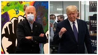 Joe Biden amerikai elnök és elődje Donald Trump