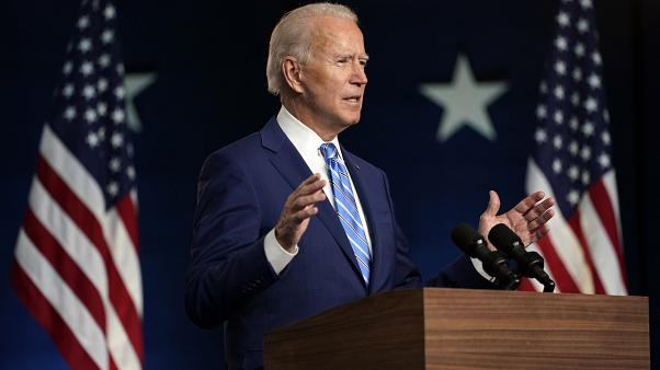 Joe Biden beszédet mond Wilmingtonban a választás másnapján