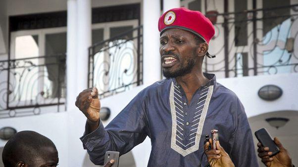Der ugandische Popstar und Oppositionspolitiker Bobi Wine nach seiner Haftentlassung im Jahr 2019