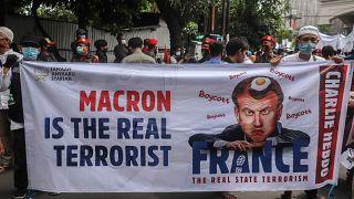 Fransa Cumhurbaşkanı Macron'a yönelik tepkiler