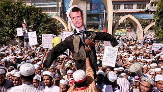 اعتراض مسلمانان بنگلادش به ماکرون