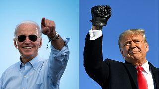 الرئيس الأمريكي دونالد ترامب والمرشح الديمقراطي للرئاسة ونائب الرئيس الأمريكي السابق جو بايدن