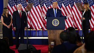 US-Präsident Donald Trump spricht im Weißen Haus, 04.11.2020