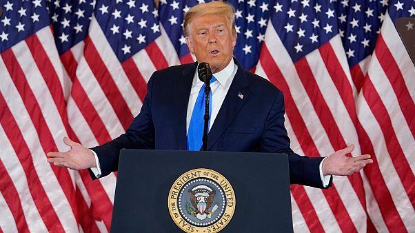 الرئيس الأمريكي المنتهية ولايته دونالد ترامب