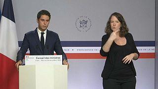 """Regierungssprecher Gabriel Attal erläuterte das Verbotsdekret gegen die """"Grauen Wölfe"""""""