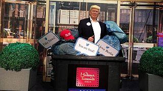 Donald Trump'ın balmumu heykeli çöpte