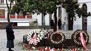 Gedenken an die Opfer in Wien