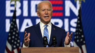 El candidato demócrata, Joe Biden, durante la comparecencia de este miércoles