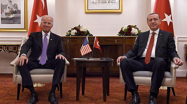 Eski ABD Başkan Yardımcısı Joe Biden, Cumhurbaşkanı Recep Tayyip Erdoğan