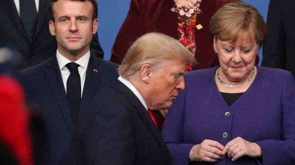 مرکل، ماکرون و ترامپ